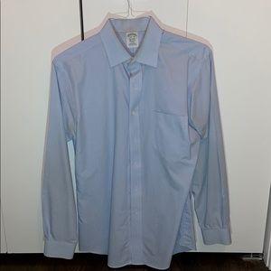 Brooks Brothers Blue Striped Dress Shirt (15.5/34)